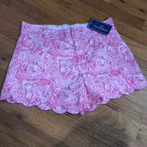 Lauren James Scalloped Shorts